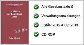 Rezension – Handbuch zur Lohnsteuer 2013