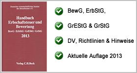 Rezension – Handbuch Erbschaftsteuer und Bewertung 2013