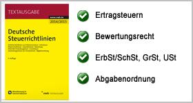 Textausgabe – Deutsche Steuerrichtlinien