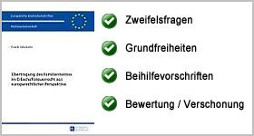 Rezension – Übertragung des Familienheimes im Erbschaftsteuerrecht aus europarechtlicher Perspektive