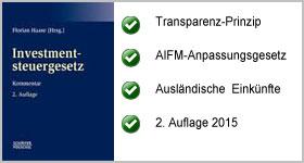 Investmentsteuergesetz – Haase