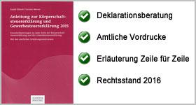 Rezension – Anleitung zur Körperschaftsteuererklärung und Gewerbesteuererklärung 2015
